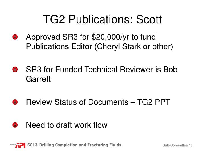 TG2 Publications: Scott