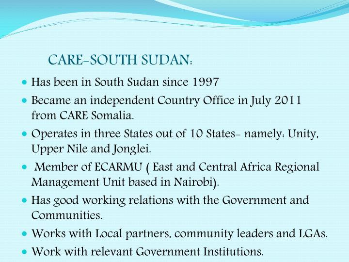 CARE-SOUTH SUDAN: