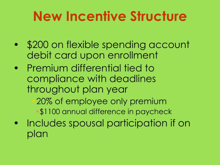 $200 on flexible spending account debit card upon enrollment