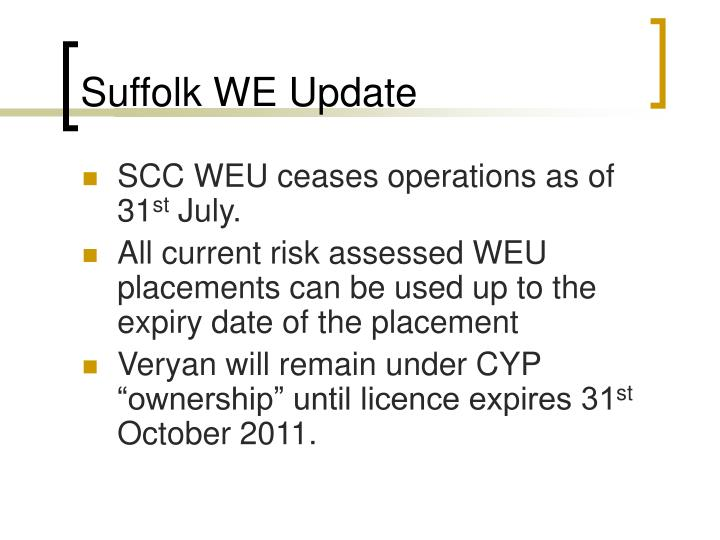 Suffolk we update