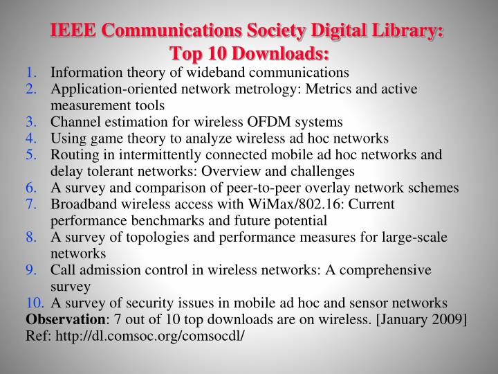 IEEE Communications Society Digital Library: