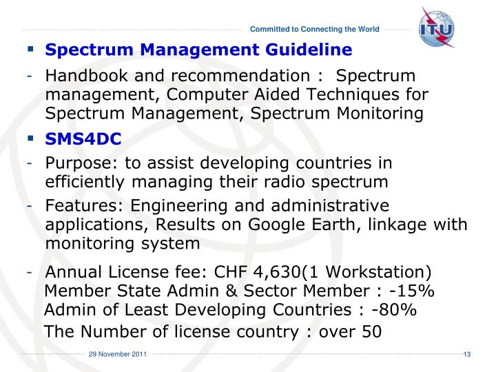 Spectrum Management Guideline