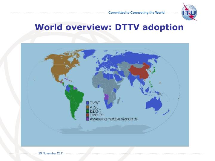 World overview: DTTV adoption