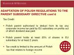adaptation of polish regulations to the parent subsidiary directive cont d1