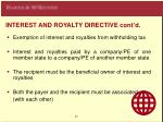 interest and royalty directive cont d