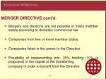 merger directive cont d8