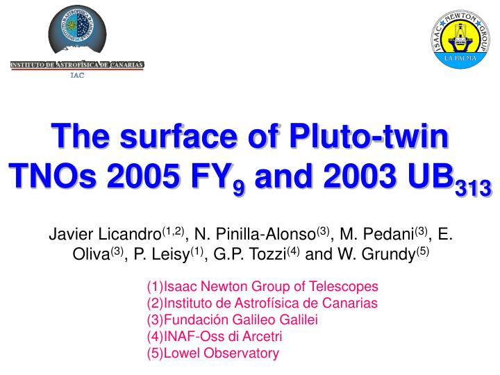 The surface of Pluto-twin TNOs 2005 FY