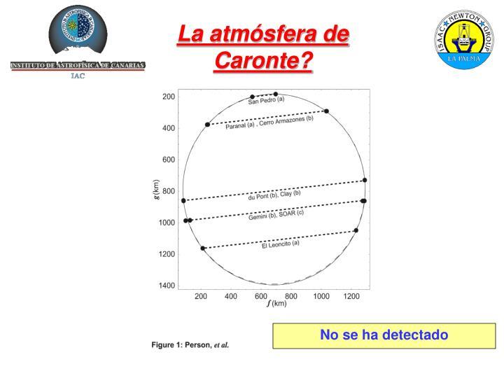 La atmósfera de Caronte?