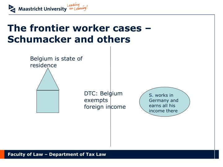 The frontier worker cases – Schumacker and others
