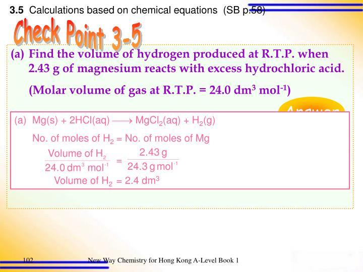 Mg(s) + 2HCl(aq)  MgCl
