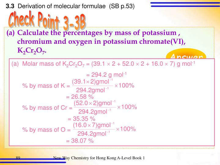 Molar mass of K
