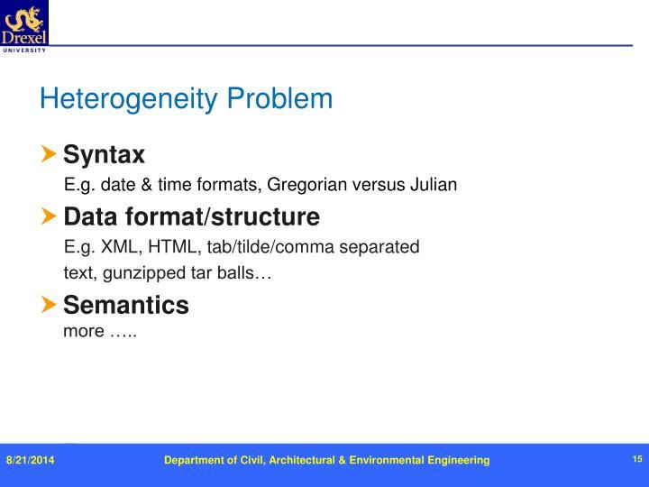 Heterogeneity Problem