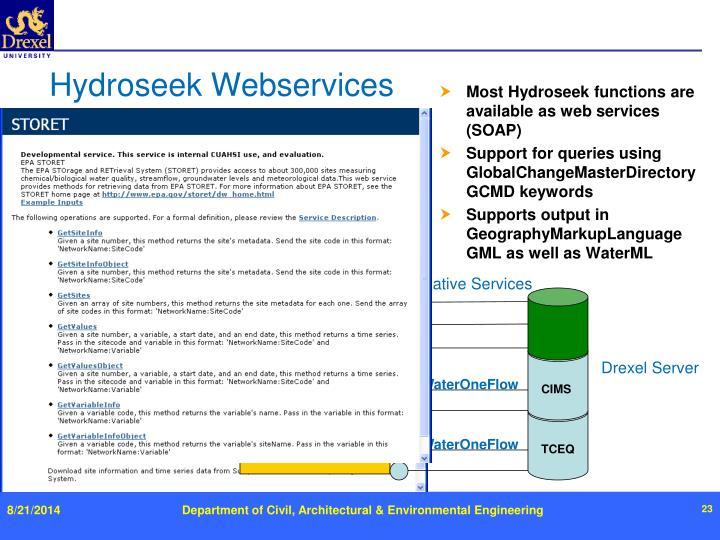 Hydroseek Webservices