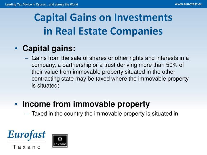 Capital Gains o