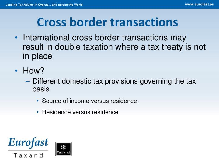Cross border transactions