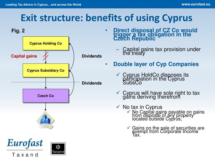 Exit structure: benefits of using Cyprus