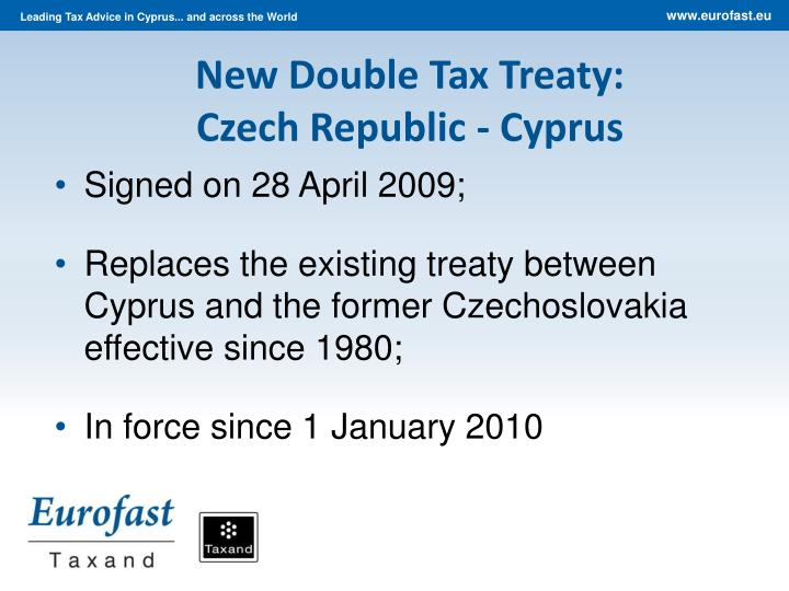 New Double Tax Treaty: