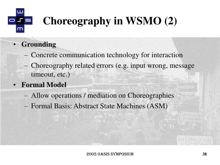 Choreography in WSMO (2)