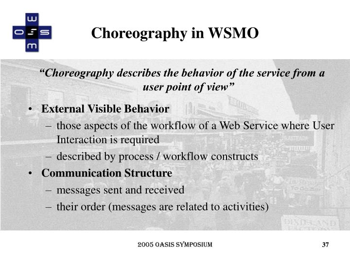 Choreography in WSMO