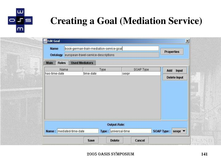 Creating a Goal (Mediation Service)