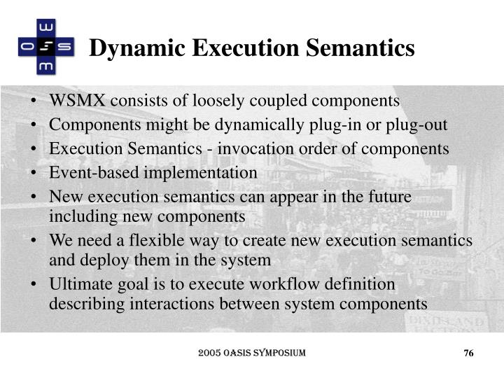 Dynamic Execution Semantics