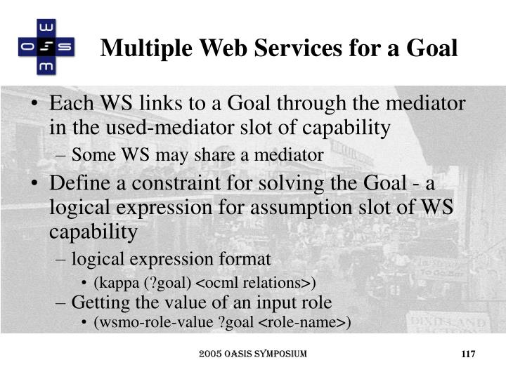 Multiple Web Services for a Goal