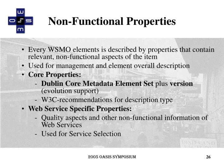 Non-Functional Properties