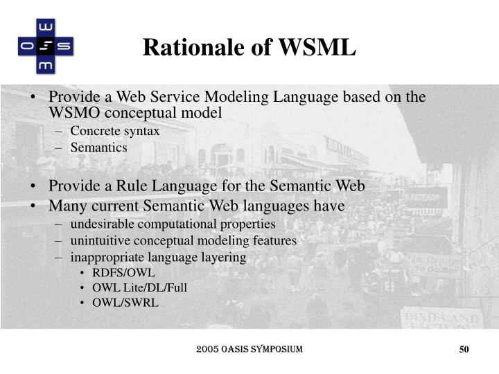 Rationale of WSML