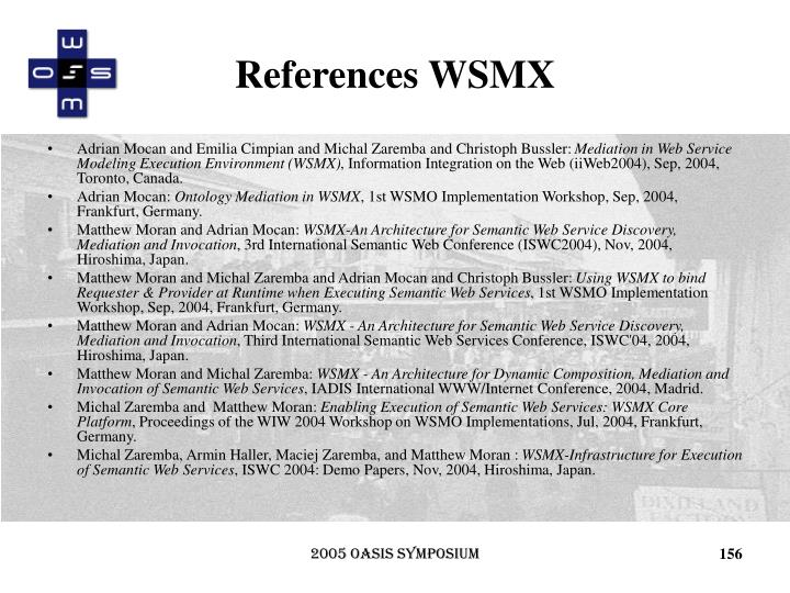 References WSMX