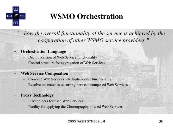 WSMO Orchestration