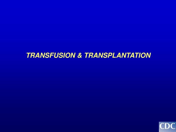 TRANSFUSION & TRANSPLANTATION