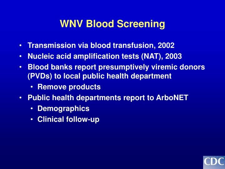 WNV Blood Screening