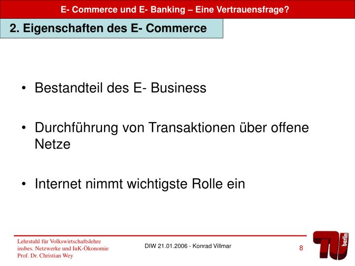 Bestandteil des E- Business