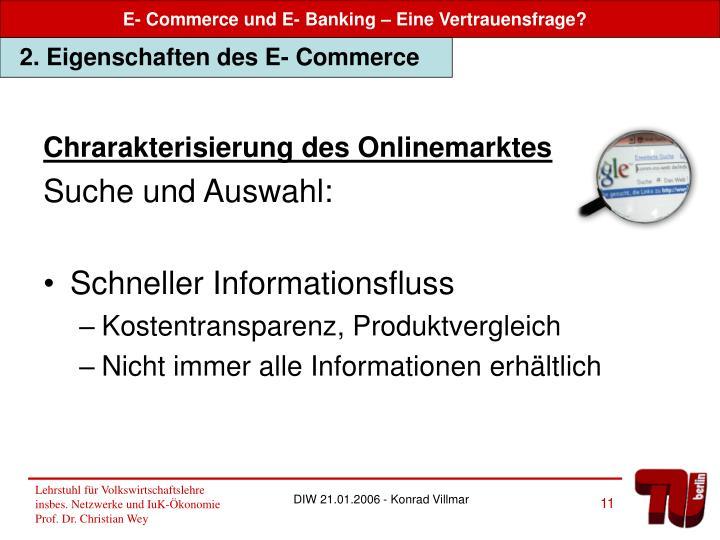 Chrarakterisierung des Onlinemarktes