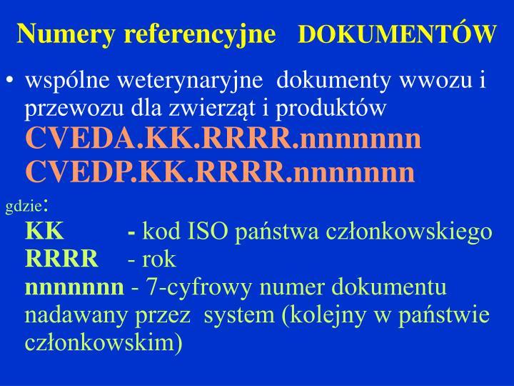 Numery referencyjne
