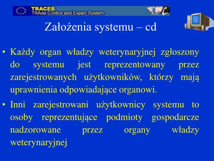 Założenia systemu – cd