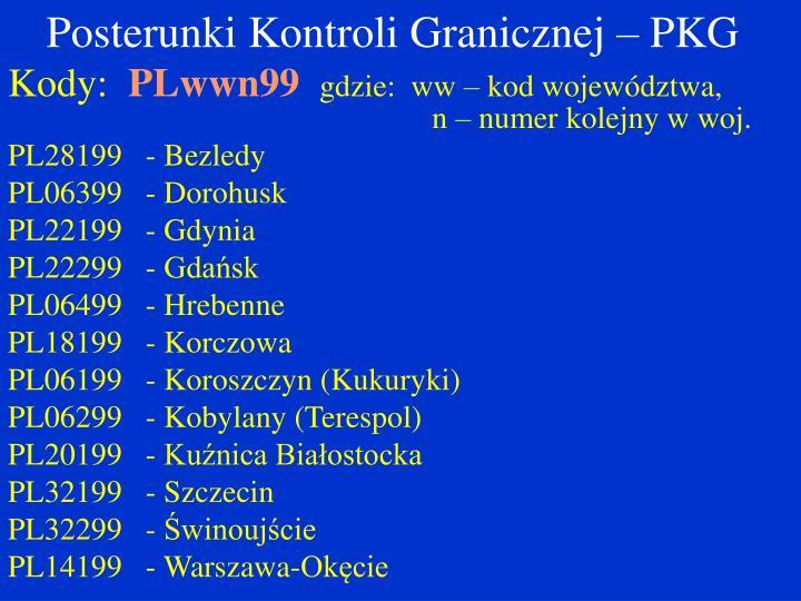 Posterunki Kontroli Granicznej – PKG