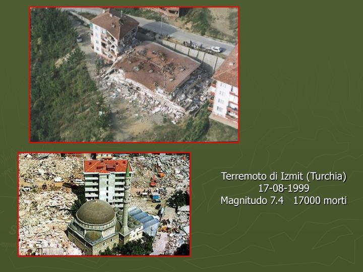 Terremoto di Izmit (Turchia)