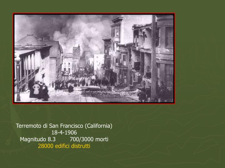 Terremoto di San Francisco (California)