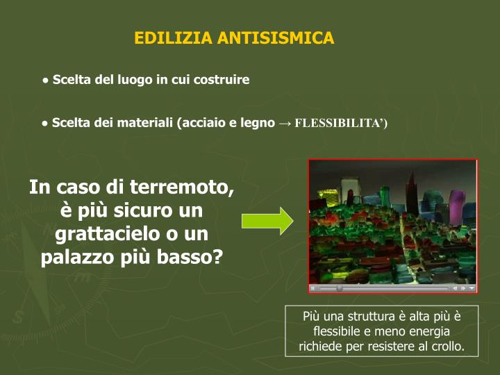 EDILIZIA ANTISISMICA
