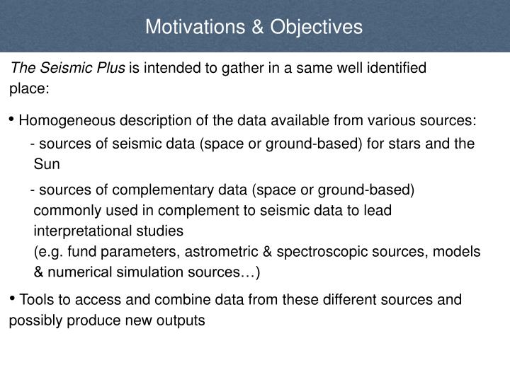 Motivations & Objectives