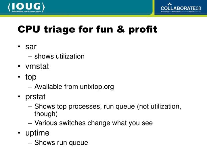 CPU triage for fun & profit