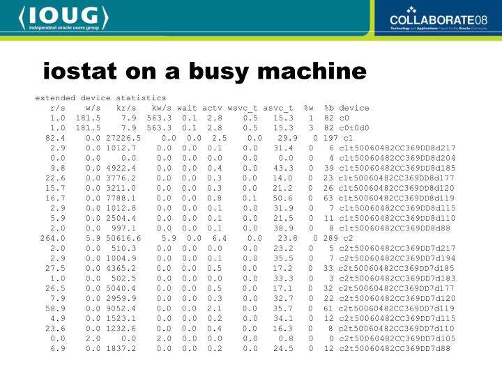 iostat on a busy machine