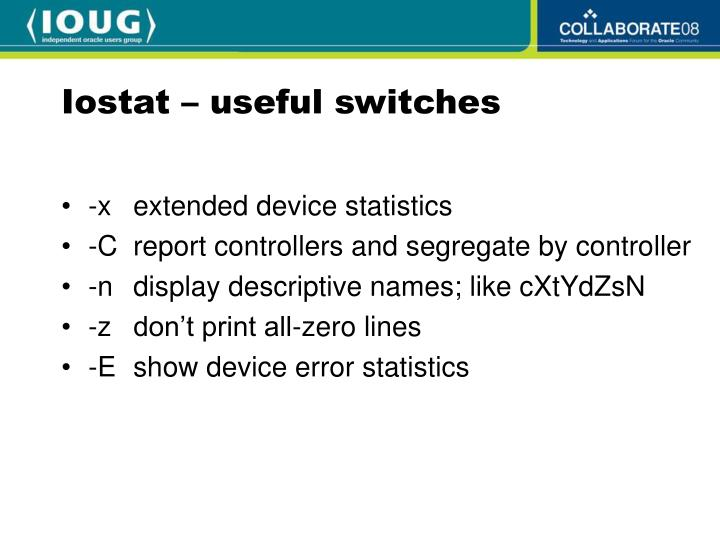 Iostat – useful switches