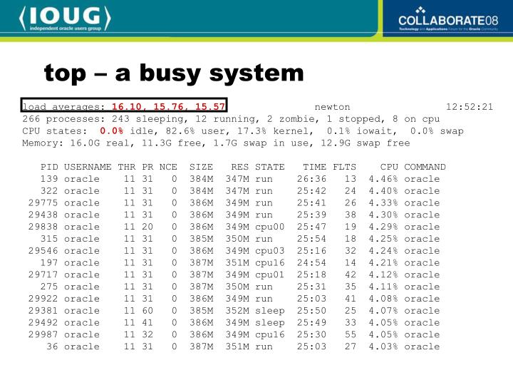 top – a busy system