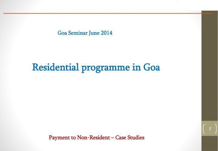 Goa Seminar June 2014