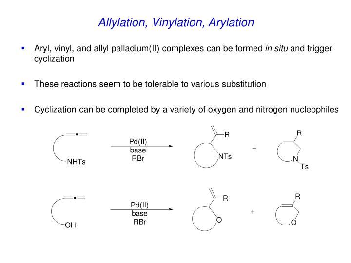 Allylation, Vinylation, Arylation