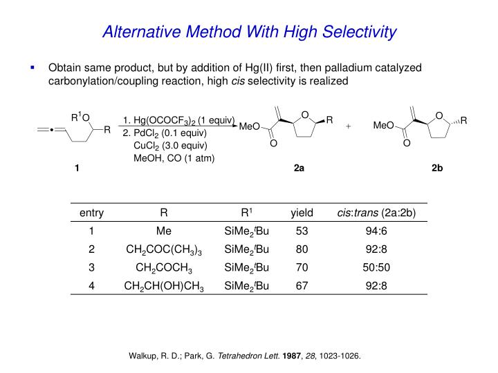 Alternative Method With High Selectivity