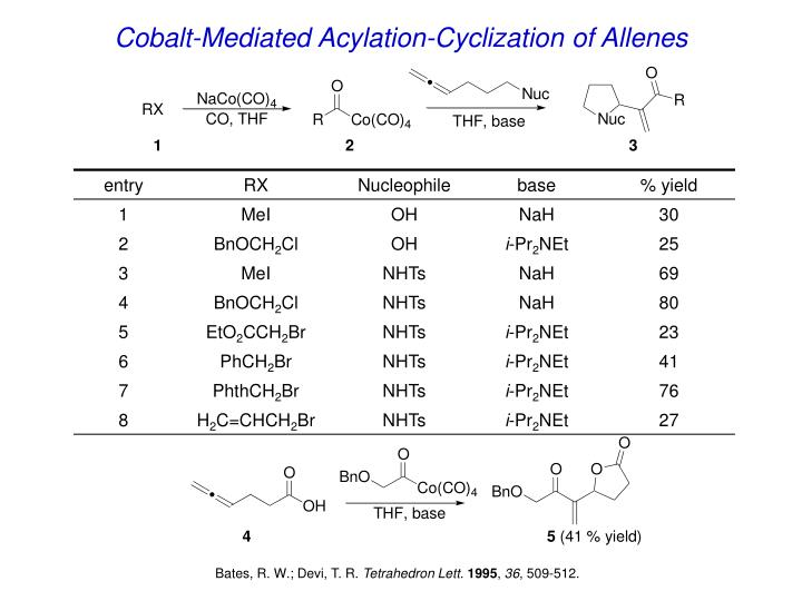 Cobalt-Mediated Acylation-Cyclization of Allenes