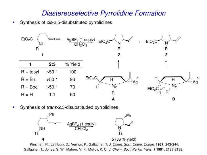 Diastereoselective Pyrrolidine Formation